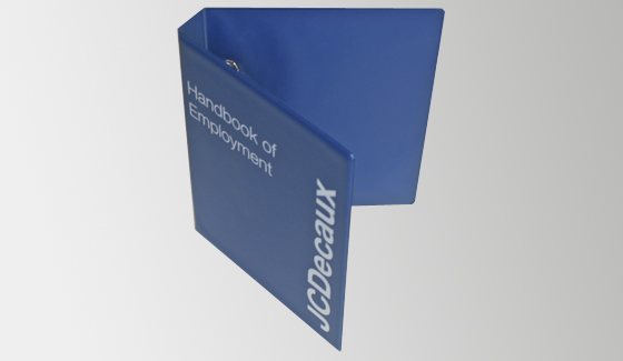 Branded binders for JC Decaux