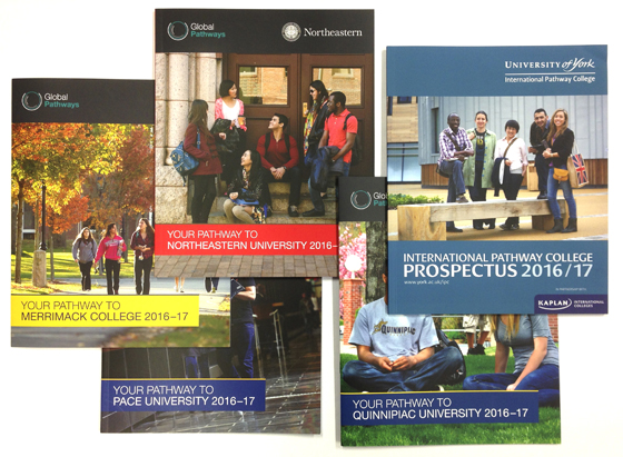 Just 5 from the 16 prosectuses printed for Kaplan International Colleges in November
