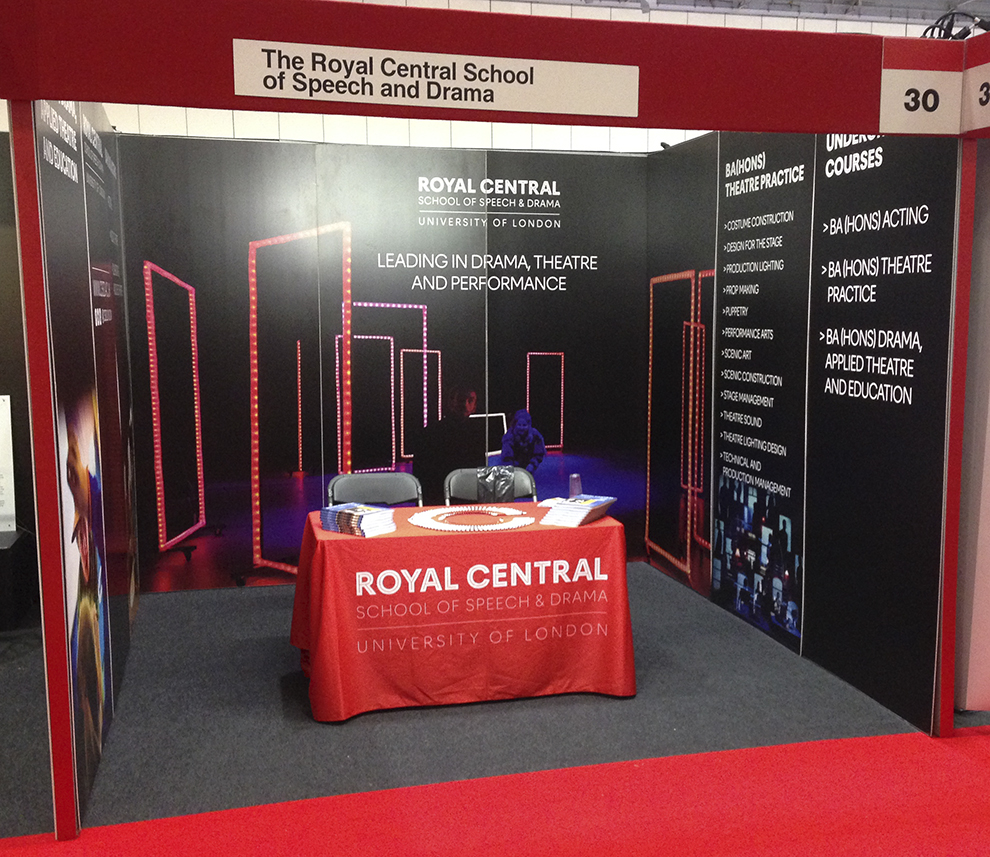 The Royal Central stand at the UCAS event in the Excel Centre