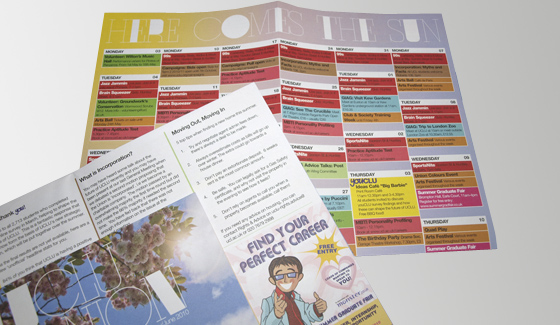 Why not produce an events guide to make sure your students don't miss out on the parties?!