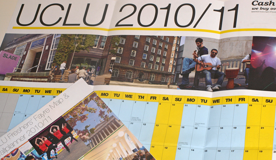 UCLU 2010-11 Wallplanner and Freshers' Fayre Map