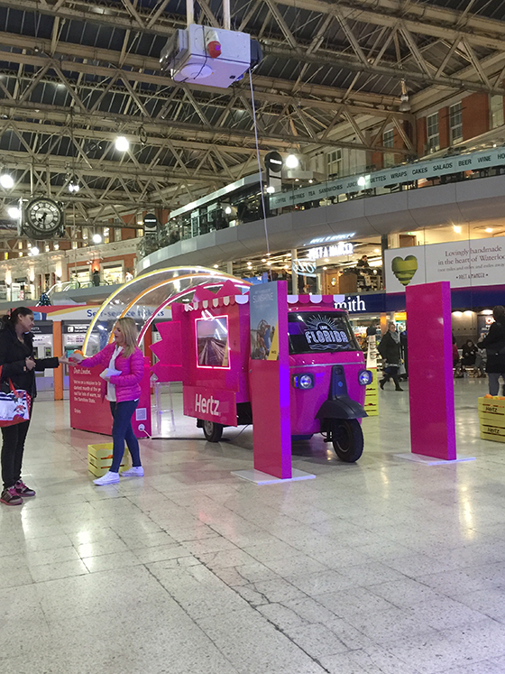 Love Florida Campaign at Waterloo Station