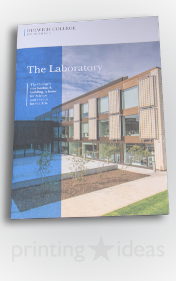 An informational booklet for the Dulwich Collage Laboratory