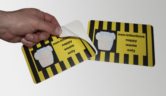 Waste labels printed for King's College Hospital PCT