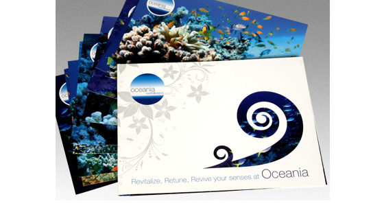Oceania beauty salon used us to print their wallets with inserts