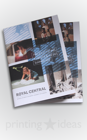 Productions Events and News Booklet for Royal Central School of Speech and Drama