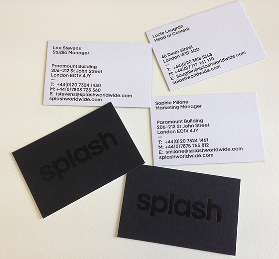 Printing ideas we printed these business cards for one of our major clients simple black and white cards duplexed to give a luxury effect with their logo in black foil on reheart Choice Image