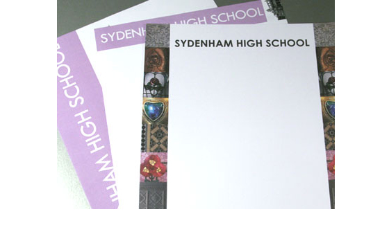 Headed Paper and Certificates printed for Sydenham High School